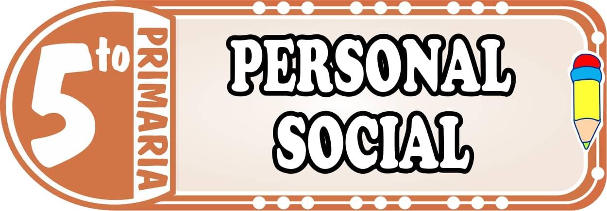 Personal Social para Quinto de Primaria Fichas de Trabajo