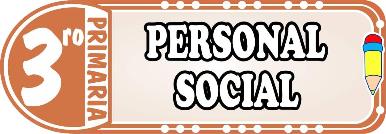 Personal Social para Tercero de Primaria Fichas de Trabajo
