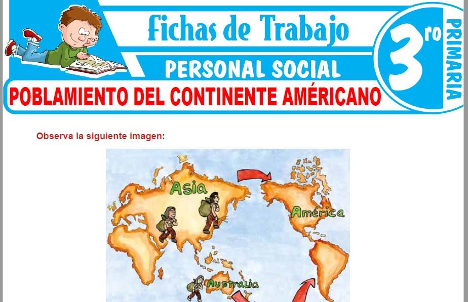 Modelos de la Ficha de Poblamiento del continente américano para Tercero de Primaria