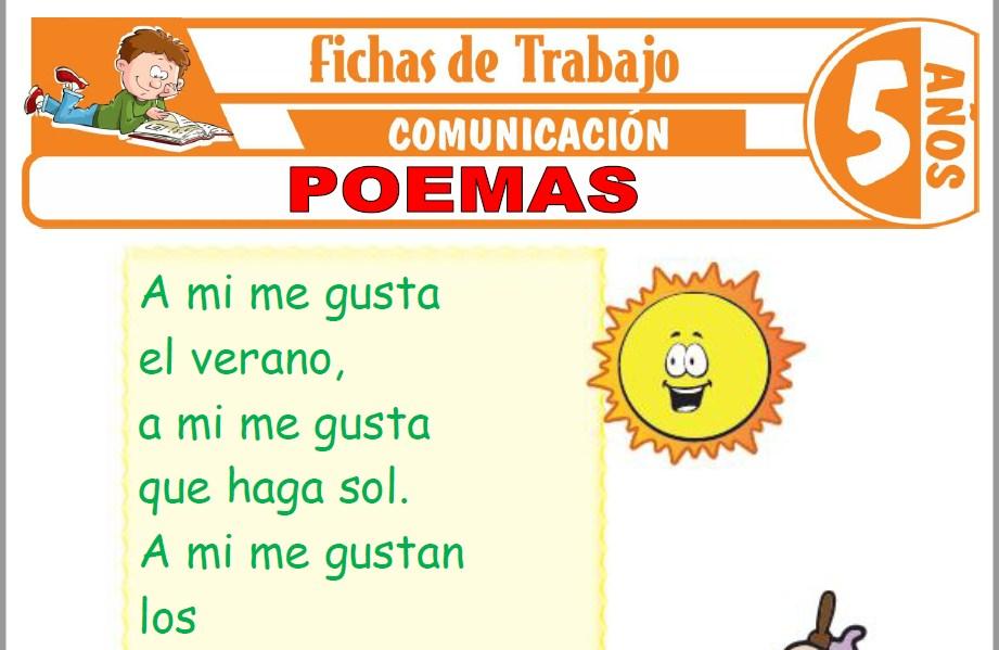 Modelos de la Ficha de Poemas para Niños de Cinco Años