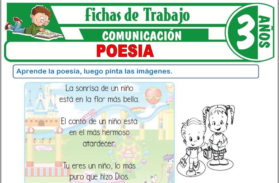Modelos de la Ficha de Poesía para Niños de Tres Años