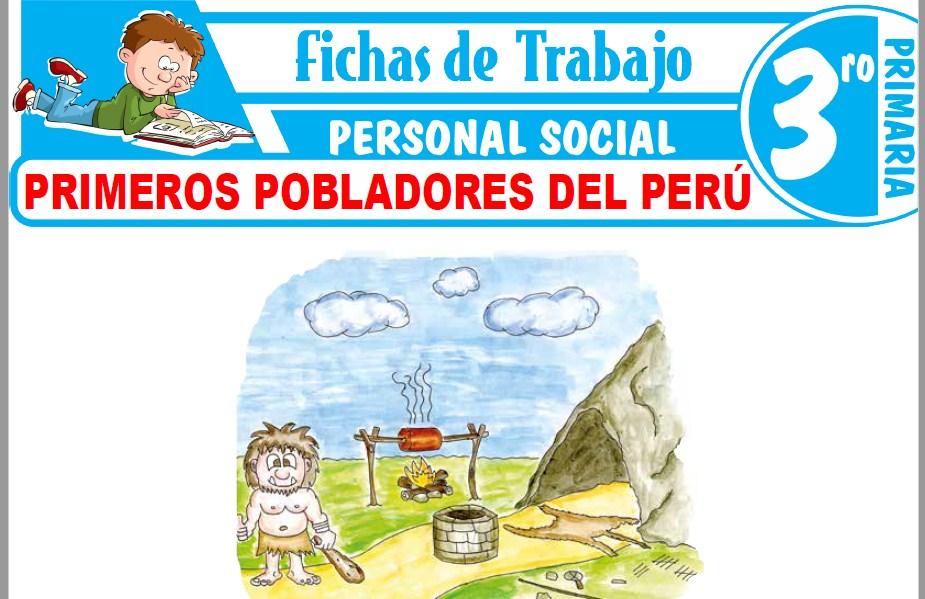 Modelos de la Ficha de Primeros pobladores del Perú para Tercero de Primaria