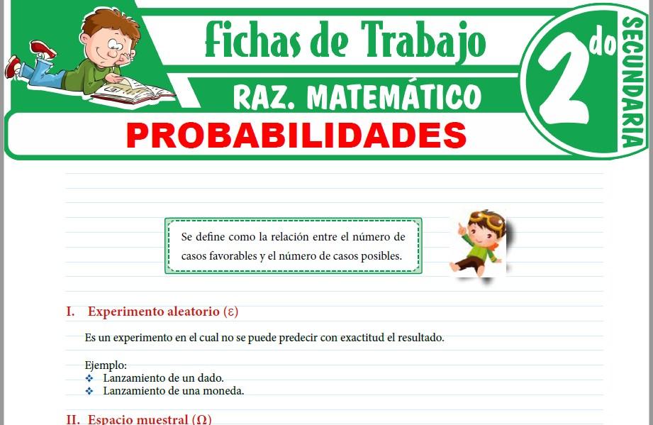 Modelos de la Ficha de Probabilidades para Segundo de Secundaria