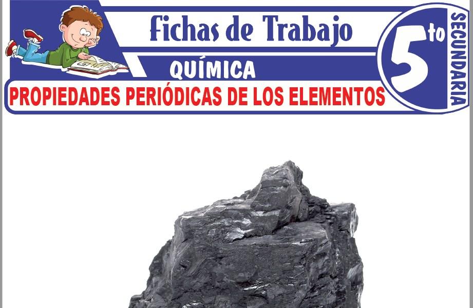 Modelos de la Ficha de Propiedades periódicas de los elementos para Quinto de Secundaria