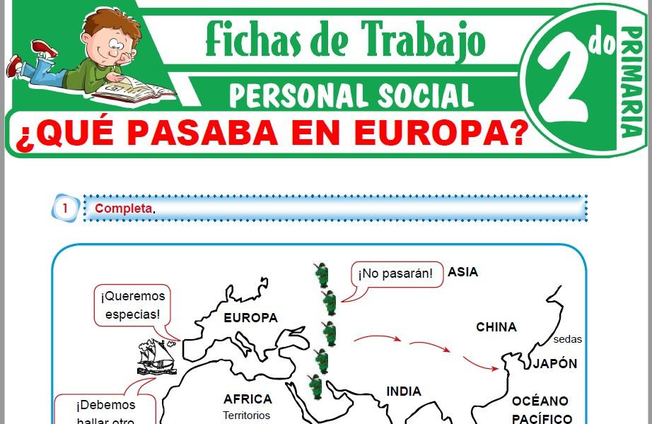 Modelos de la Ficha de ¿Qué pasaba en Europa? para Segundo de Primaria