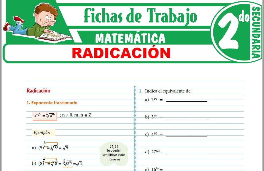 Modelos de la Ficha de Radicación para Segundo de Secundaria