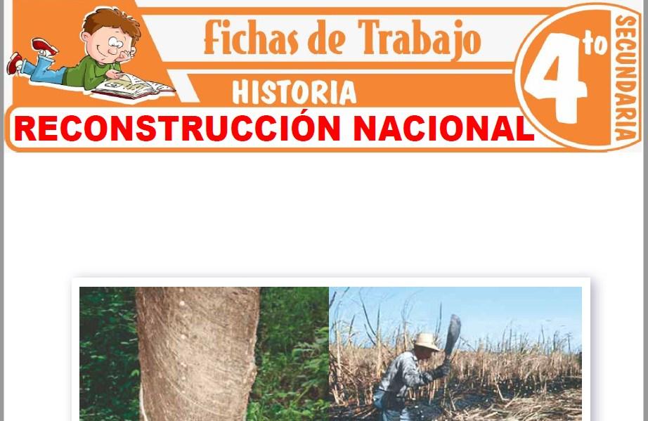 Modelos de la Ficha de Reconstrucción nacional para Cuarto de Secundaria