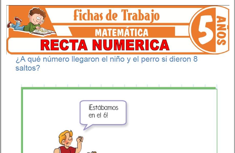 Modelos de la Ficha de Recta numérica para Niños de Cinco Años