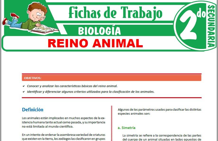 Modelos de la Ficha de Reino animal para Segundo de Secundaria