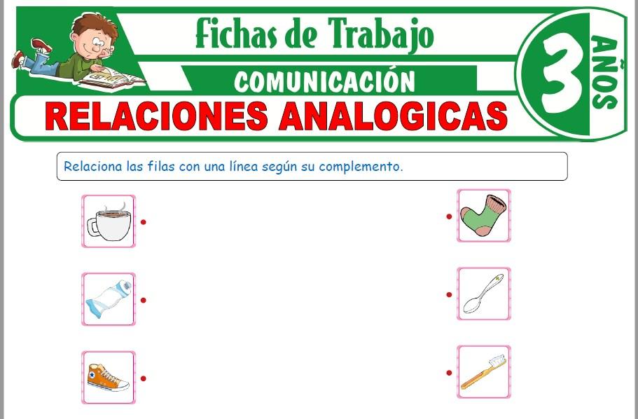Modelos de la Ficha de Relaciones analógicas para Niños de Tres Años