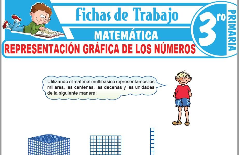 Modelos de la Ficha de Representación gráfica de los números para Tercero de Primaria