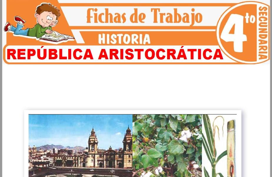Modelos de la Ficha de República aristocrática para Cuarto de Secundaria