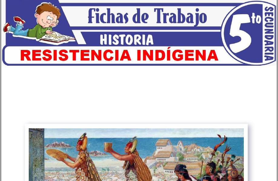 Modelos de la Ficha de Resistencia Indígena para Quinto de Secundaria