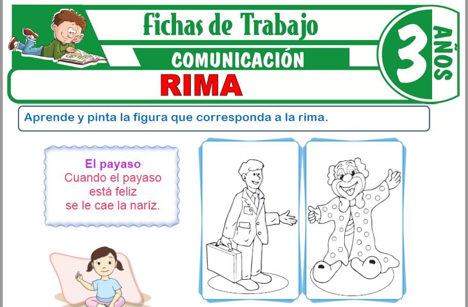 Modelos de la Ficha de Rima para Niños de Tres Años