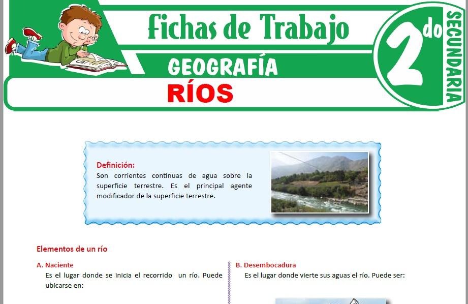 Modelos de la Ficha de Ríos para Segundo de Secundaria