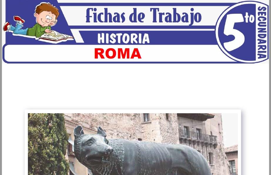 Modelos de la Ficha de Roma para Quinto de Secundaria