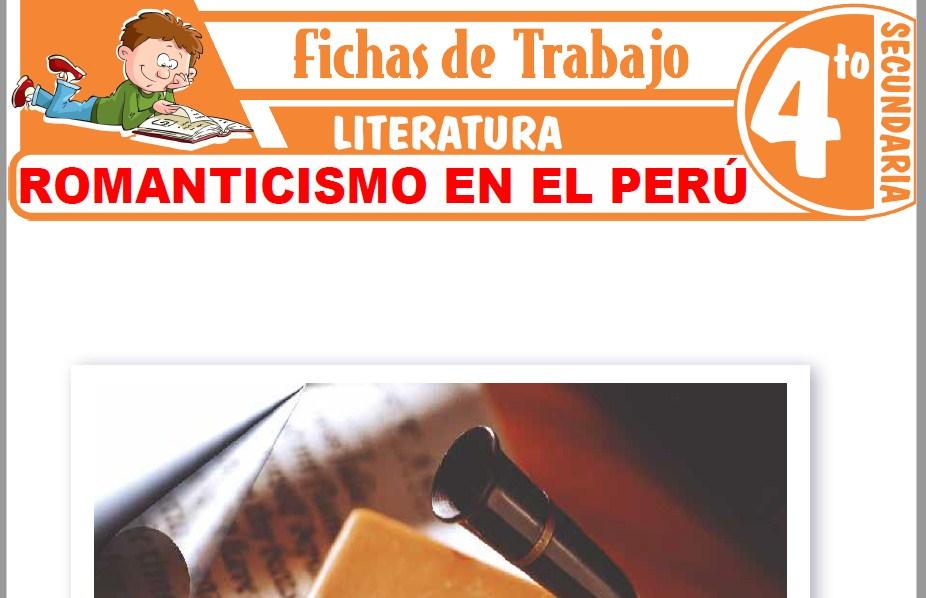Modelos de la Ficha de Romanticismo en el Perú para Cuarto de Secundaria