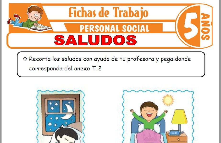 Modelos de la Ficha de Saludos para Niños de Cinco Años