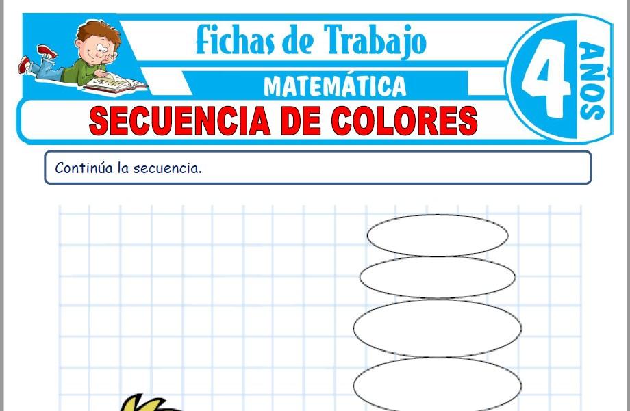 Modelos de la Ficha de Secuencia de colores para Niños de Cuatro Años