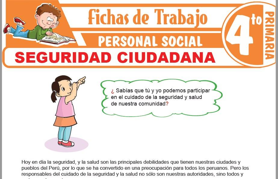 Modelos de la Ficha de Seguridad ciudadana para Cuarto de Primaria