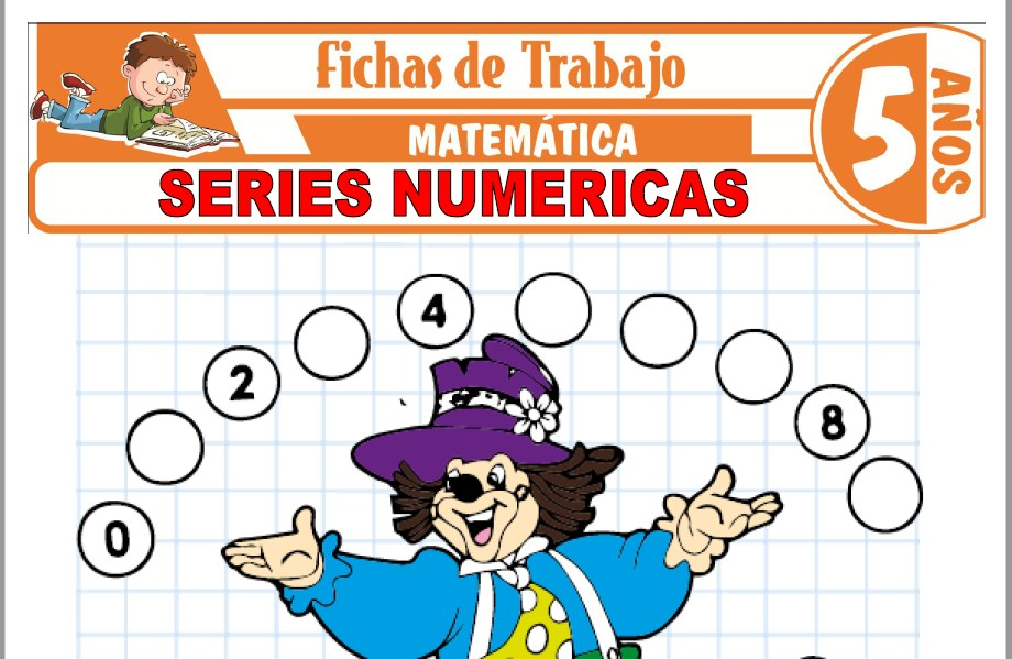 Modelos de la Ficha de Series numéricas para Niños de Cinco Años