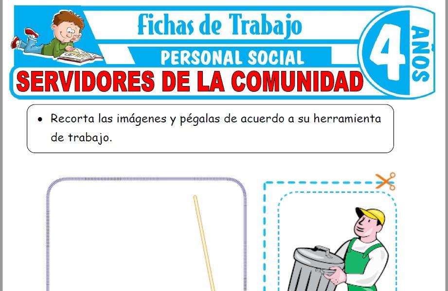 Modelos de la Ficha de Servidores de la comunidad para Niños de Cuatro Años