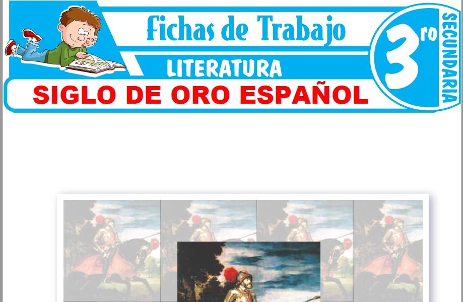 Modelos de la Ficha de Siglo de Oro Español para Tercero de Secundaria