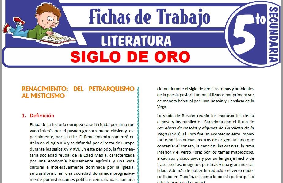 Modelos de la Ficha de Siglo de oro para Quinto de Secundaria