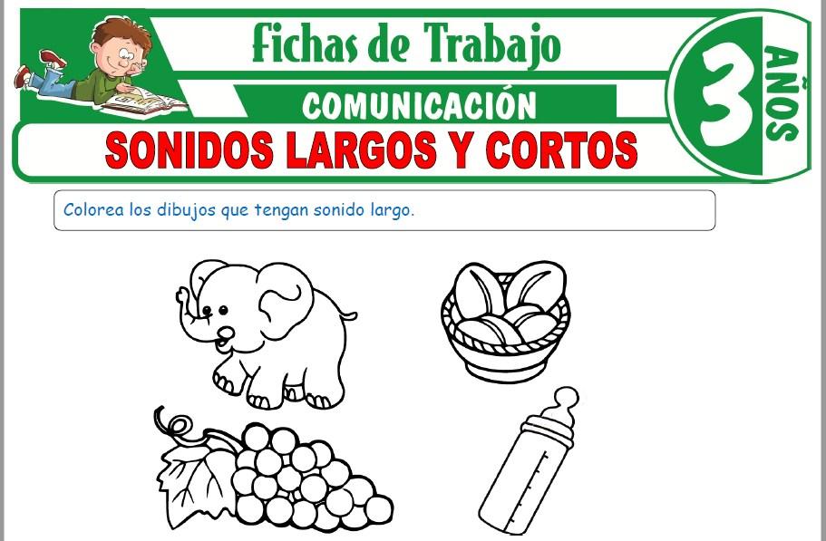 Modelos de la Ficha de Sonidos largos y cortos para Niños de Tres Años