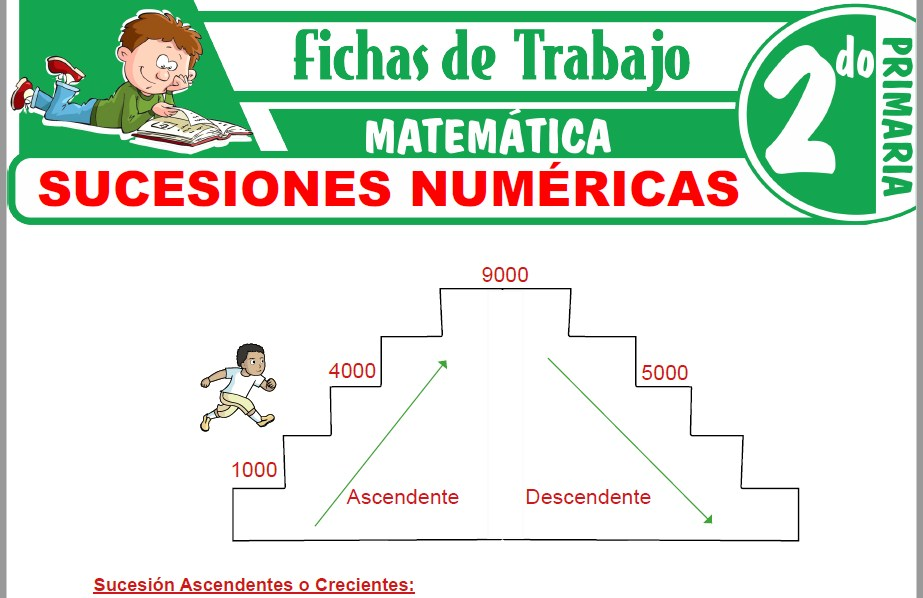 Modelos de la Ficha de Sucesiones numéricas para Segundo de Primaria