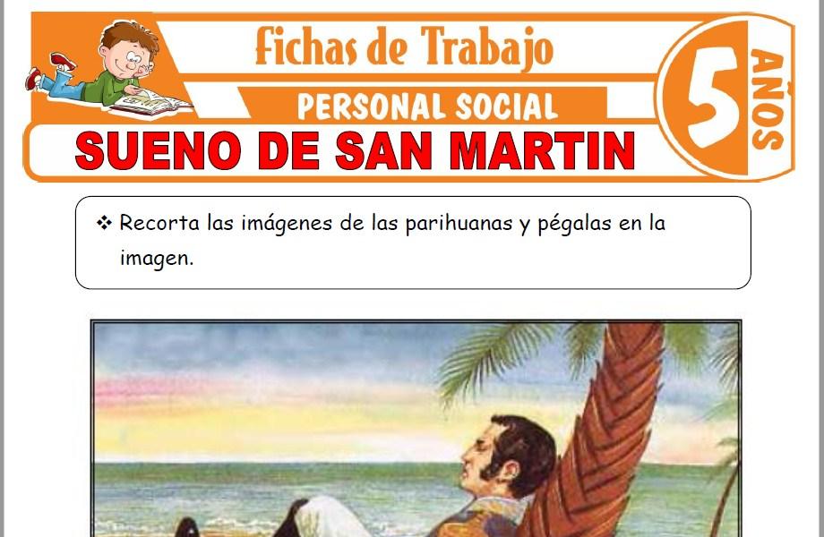 Modelos de la Ficha de Sueño de San Martin para Niños de Cinco Años