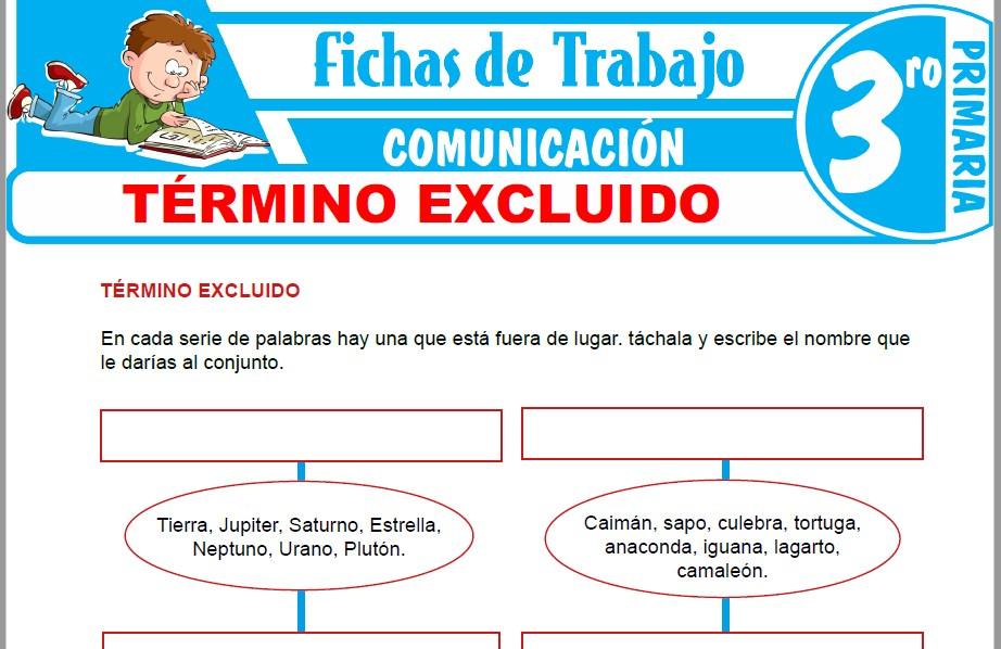 Modelos de la Ficha de Término excluido para Tercero de Primaria