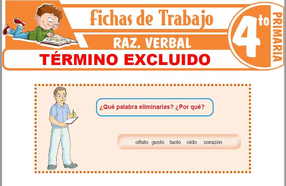 Modelos de la Ficha de Términos excluidos para Cuarto de Primaria