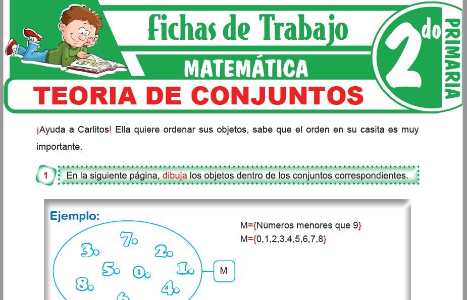 Modelos de la Ficha de Teoria de Conjuntos para Segundo de Primaria