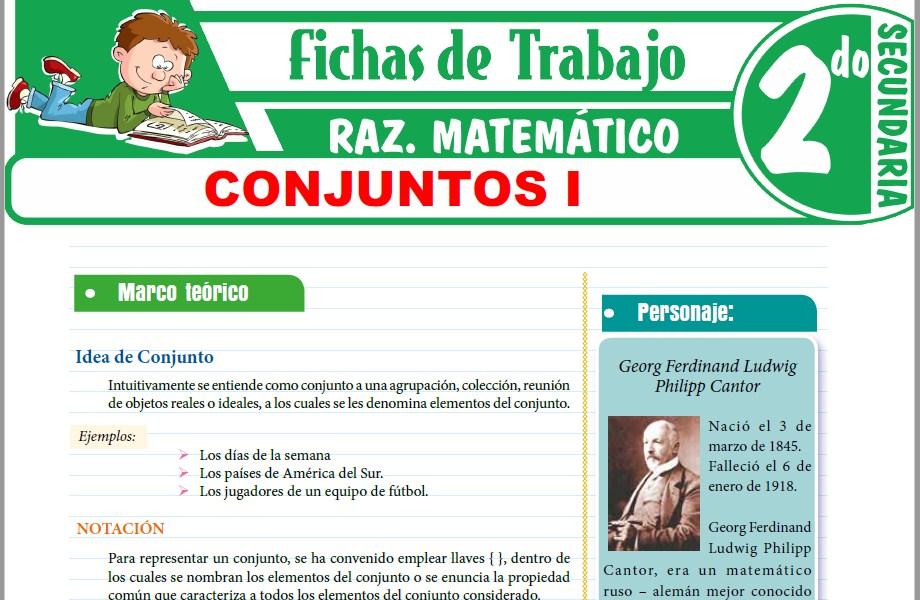 Modelos de la Ficha de Teoria de Conjuntos para Segundo de Secundaria