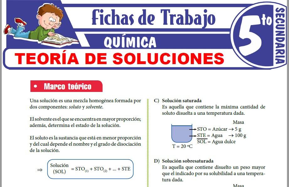 Modelos de la Ficha de Teoría de soluciones para Quinto de Secundaria