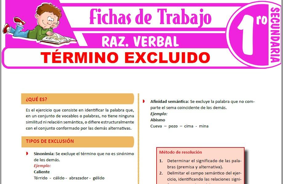Modelos de la Ficha de Término excluido para Primero de Secundaria