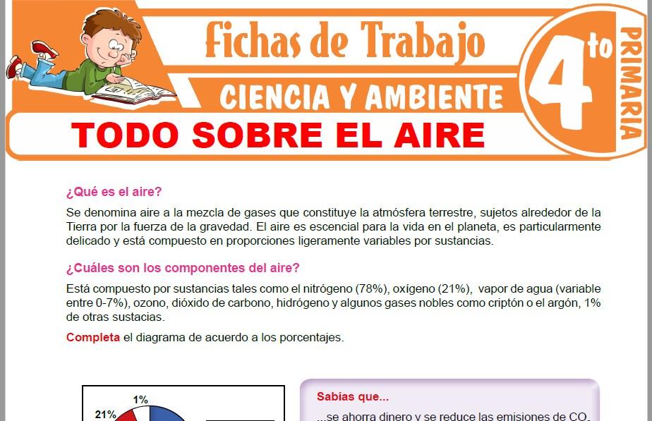 Modelos de la Ficha de Todo sobre el aire para Cuarto de Primaria