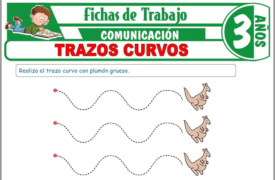 Modelos de la Ficha de Trazos curvos para Niños de Tres Años