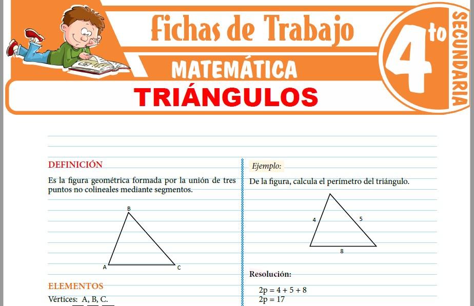 Modelos de la Ficha de Triángulos para Cuarto de Secundaria