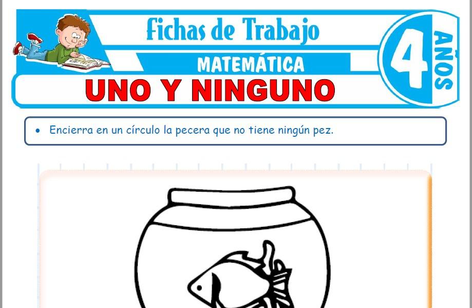 Modelos de la Ficha de Uno y ninguno para Niños de Cuatro Años