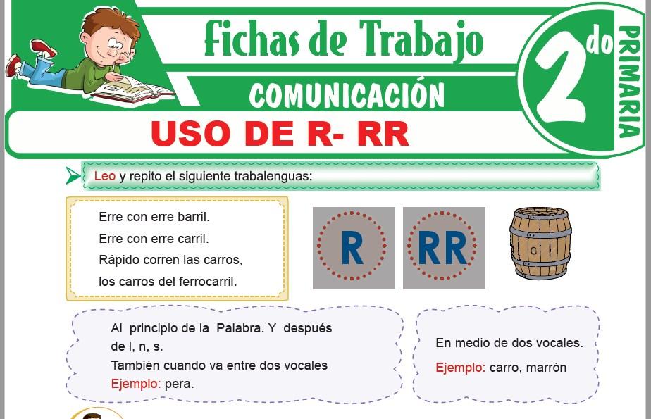 Modelos de la Ficha de Uso de R- RR para Segundo de Primaria