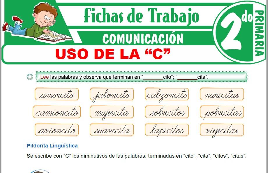 """Modelos de la Ficha de Uso de la """"C"""" para Segundo de Primaria"""
