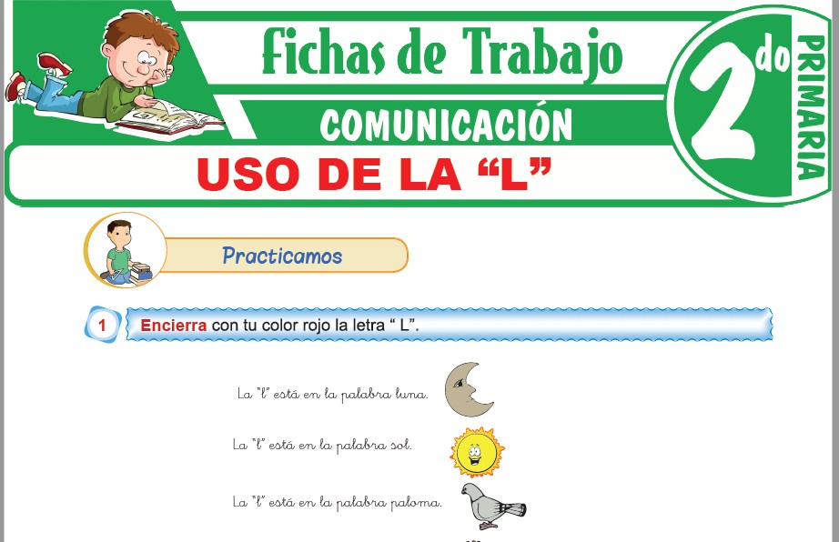 """Modelos de la Ficha de Uso de la """"L"""" para Segundo de Primaria"""