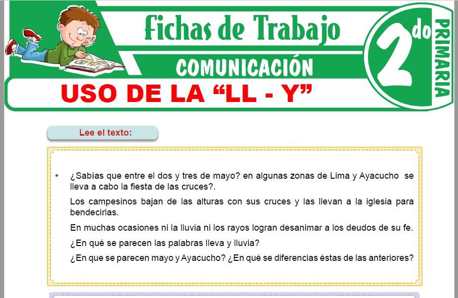 """Modelos de la Ficha de Uso de la """"LL - Y"""" para Segundo de Primaria"""