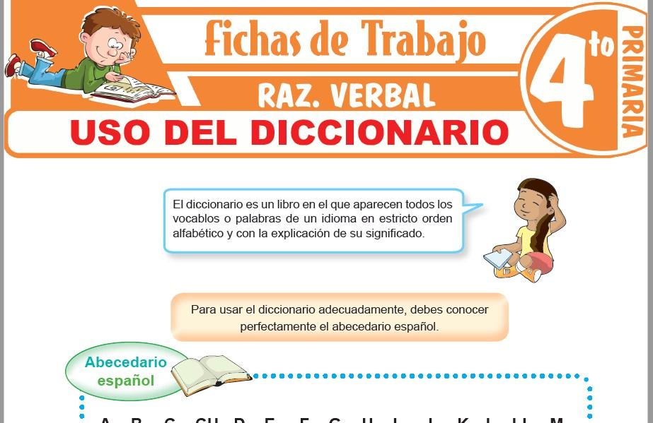 Modelos de la Ficha de Uso del diccionario para Cuarto de Primaria