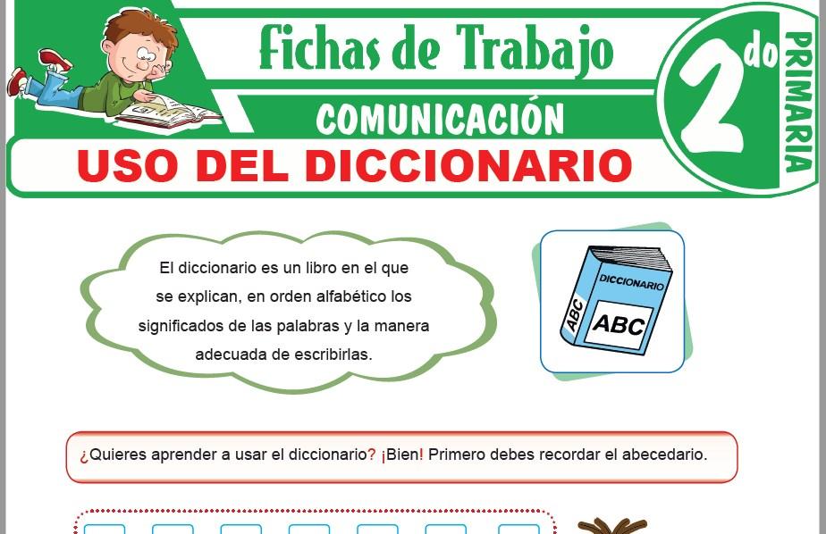 Modelos de la Ficha de Uso del diccionario para Segundo de Primaria