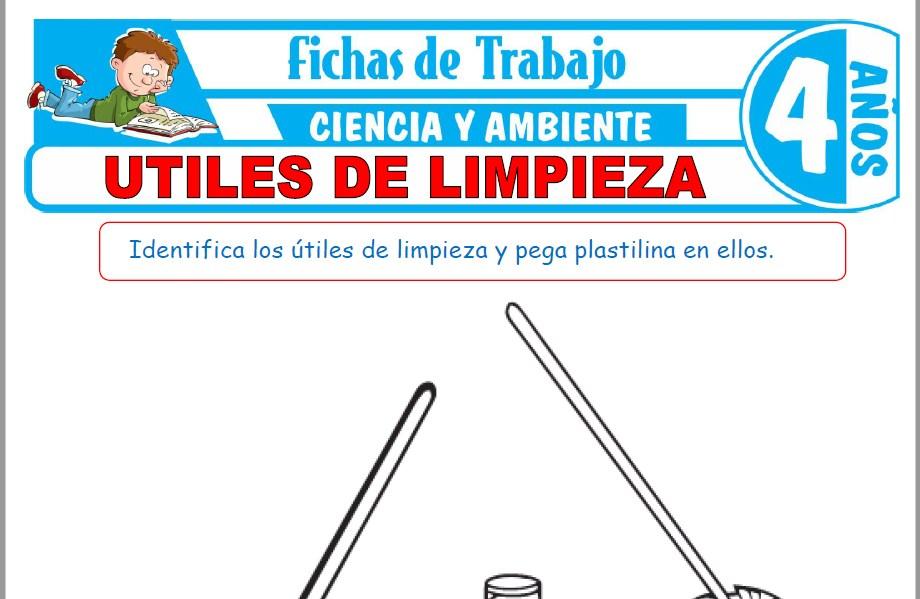 Modelos de la Ficha de Útiles de limpieza para Niños de Cuatro Años