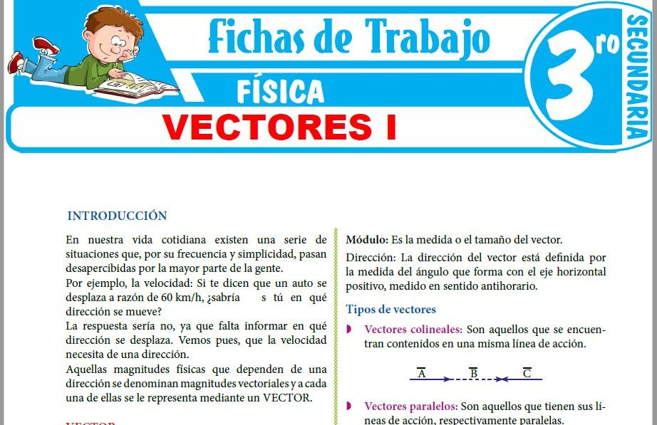 Modelos de la Ficha de Vectores I para Tercero de Secundaria