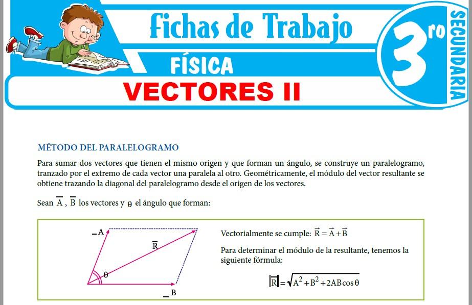 Modelos de la Ficha de Vectores II para Tercero de Secundaria
